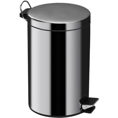 5ltr Pedal Bin,Mirror Polished Stainless Steel,Inner Plastic Bucket