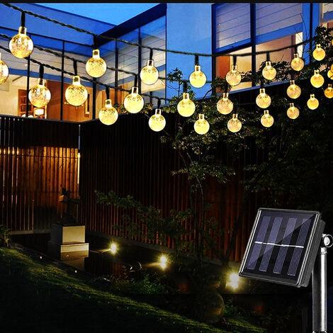 "main image of ""5m 20 Ampoules Guirlande Lumineuse Interieur Guirlande Guinguette Raccordable Étanche IP65 Jardin Parasol Terrasse Mariage Pergola-Blanc Chaud"""
