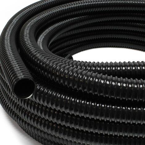 """5m Förderschlauch 25mm (1"""") - sehr flexibel schwarz UV-Beständig"""