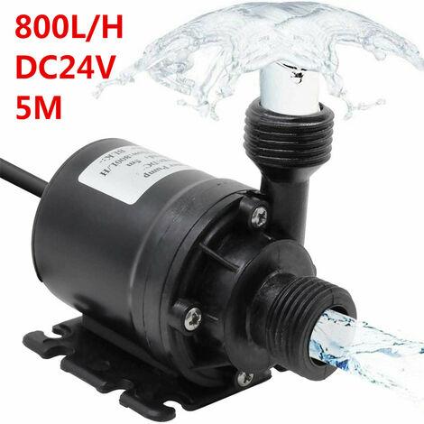 5M IP68 800L / H Moteur sans balais Pompe à eau chaude Pompe de circulation submersible Aquariums Pompe d'irrigation DC 24V