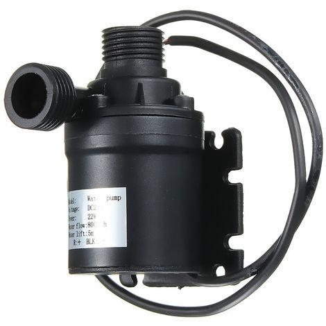 5M IP68 800L / H Moteur sans balais Pompe à eau chaude Pompe de circulation submersible Aquariums Pompe d'irrigation DC 24V Sasicare