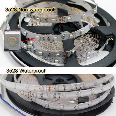 5M LED Strip Lights RGB Color Changing LED Strips with DIY 44 Keys IR Remote Controller and 12V Power Supply