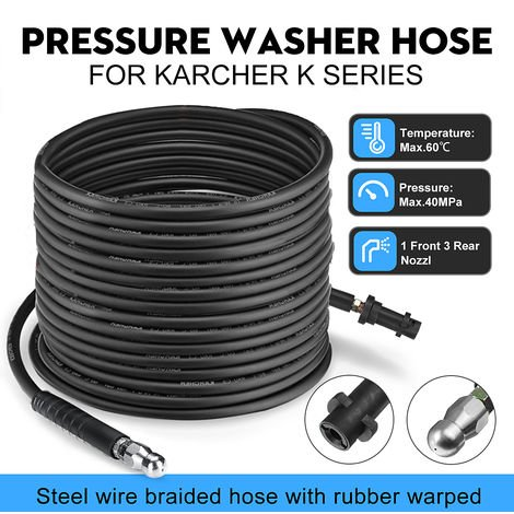 5M Pressure Washer Sewer Drain Hose Cleaning Nozzle For Karcher K K2 K3