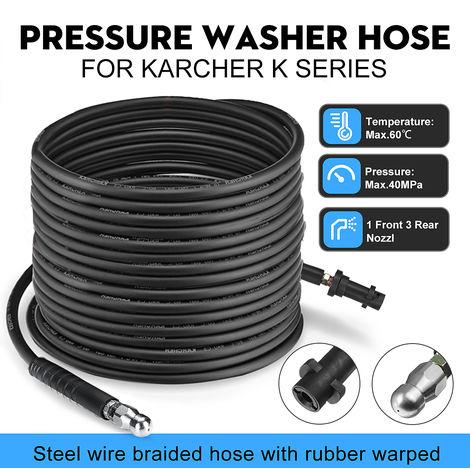 5M Pressure Washer Sewer Drain Hose Cleaning Nozzle For Karcher K K2 K3
