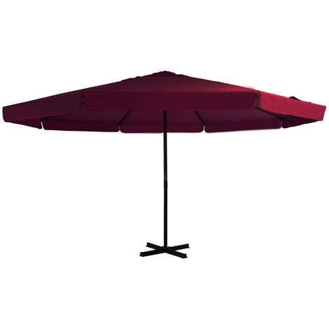5m Traditional Parasol by Freeport Park - Red