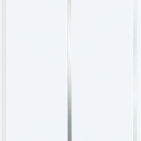5mm Wall & Ceiling Panels White Gloss Silver Strip 5 Pack