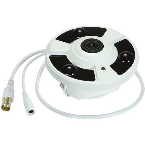 5MP (2592 * 1944) HD interieur 5 millions de pixels Objectif 1,7 mm Camera analogique fisheye panoramique a 180 ¡ã VR Camera analogique fisheye panoramique a 3 points integree Vision nocturne infrarouge Modele: TP-HD401HPC
