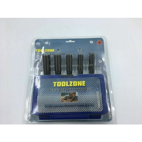 """5Pc 3/8"""" DEEP Drive Extractor Remover Set Broken Damaged Nut Bolt Removal Tool"""