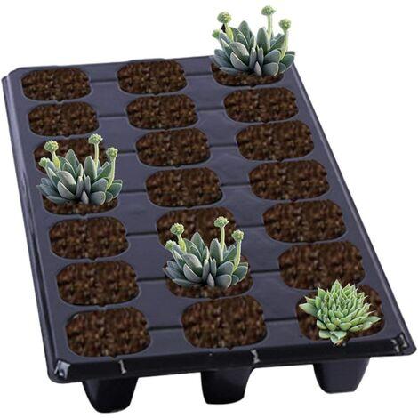 5PCS/10PCS Plateaux de démarrage de semis Kit de Plateaux de Germination des Plantes Kit de Plateau de démarrage pour semences de semis 21 cellules pour Jardins,potagers,Fruits,pépinières et serres