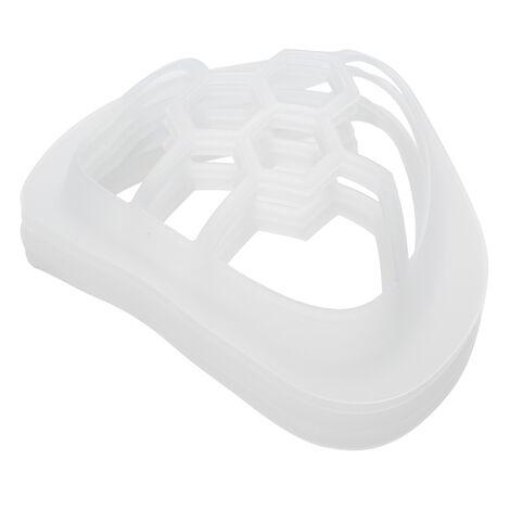 5Pcs 3D Masque Bouche Assistance Respiratoire Assistance Aide Masque Coussin Interieur Support Alimentaire Porte-Masques En Silicone De Qualite Respirant, Pour Enfants