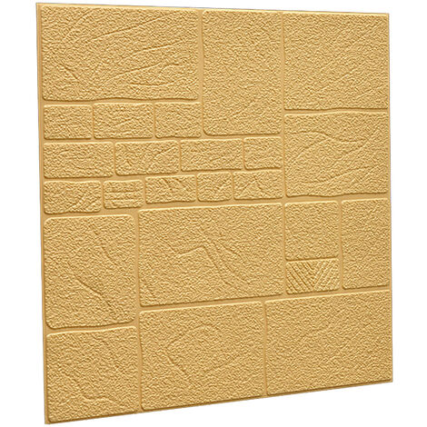 5pcs 3D Tile Brick Wallpaper Wall Sticker Self-adhesive Waterproof Foam Panel