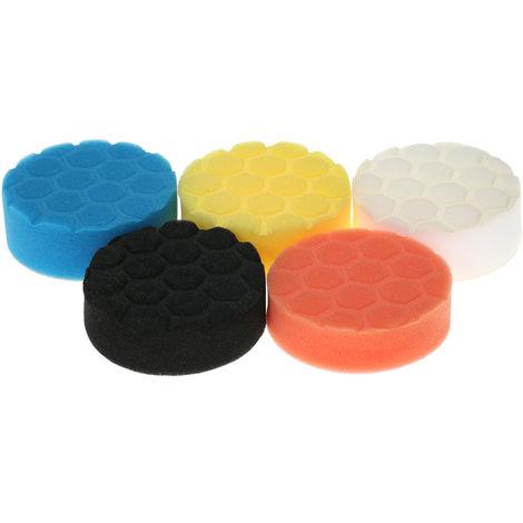 """5PCS, almohadillas de pulido para automoviles,3 """"80mm /4""""100mm /5 """"125mm /6"""" 150mm /7""""180mm"""