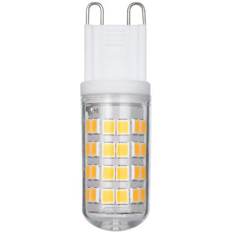 5PCS G9 LED bulbo caliente / de la luz blanca (3000K / 6000K) Led Incubadora 3W 400 lumen 52 granos del LED Bombilla de recambio para 30W bulbos de halogeno 360 ¡ã Beam CRI angulo> 80 no regulables AC100-265V, Blanco, 52-2
