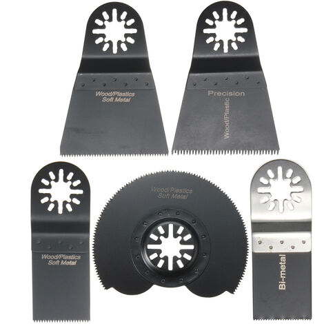 5pcs Lame de Scie Combo Multifonction Oscillants Pour Fein Multimaster Makita Voss et Plus
