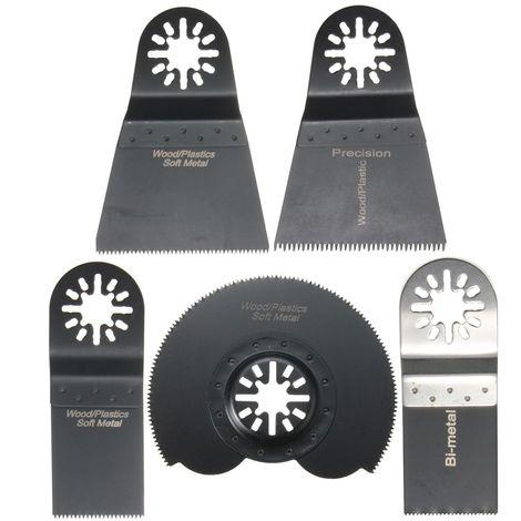 5Pcs Lame De Scie Combo Multifonction Oscillants Pour Fein Multimaster Makita Voss Et Plus Hasaki