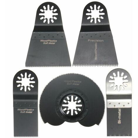 5pcs Lame de Scie Combo Multifonction Oscillants Pour Fein Multimaster Makita Voss et Plus LAVENTE