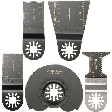 5pcs Lame de Scie Menuiserie Multifonction Outil Oscillant pour Dremel Fein Bosch cinq