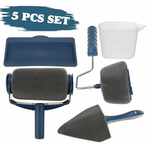 5Pcs Paint Roller Kit Exterior Wall Painting Accessories