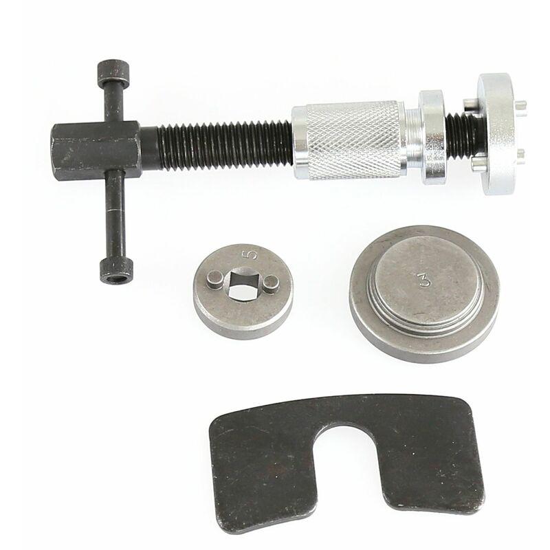 Jeobest - 5PCS Réinitialisation Frein Repousse Piston Kit cylindres Réglage / Main Droite - Noir-argent
