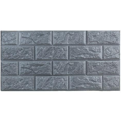 5pcs/set 8.5mm 3D Waterproof Tile Brick Wall Sticker Self-adhesive Foam Panel Wallpaper