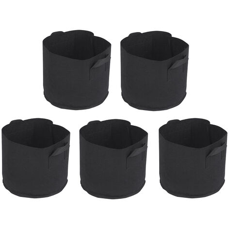 5pcs/set Grow Bags with Handles Nonwoven Grow Bags Set Fabric Grow Bags Gardening Accessory