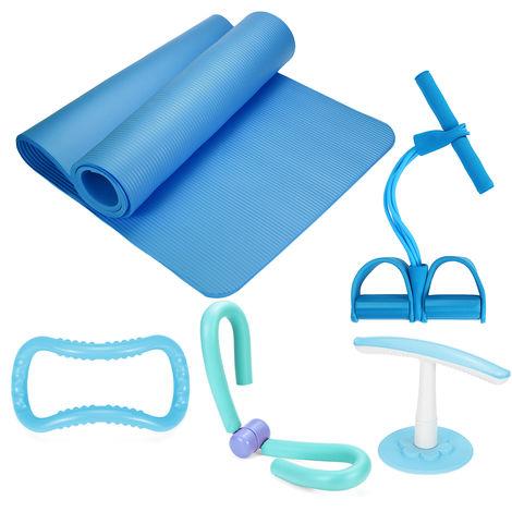 5Pcs SET Tpais de Yoga Pedal Tension Corde Anneau de yoga Intérieur Exercice Fitness BLEU