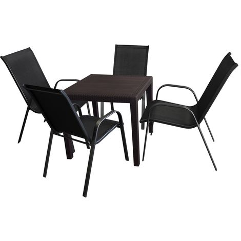 5tlg Balkonmöbel Gartenmöbel Set Sitzgarnitur Sitzgruppe