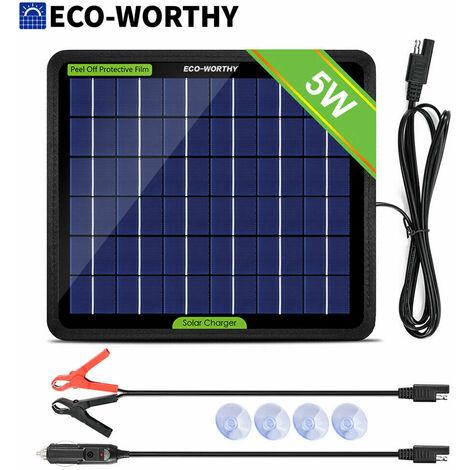5W 12V portable panneau solaire chargeur de batterie d'alimentation sauvegarde voiture yacht bateau de voyage