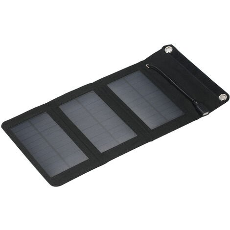 5W 3 pli panneau solaire pliant chargeur de telephone portable panneau solaire portable exterieur noir