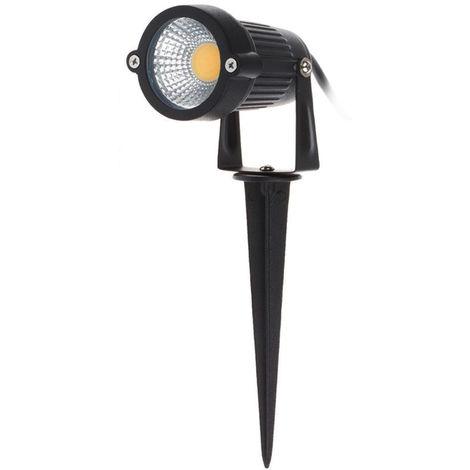 5W, COB LED Cesped, Luz de jardin, DC12-24V, Blanco calido(no se puede enviar a Baleares)