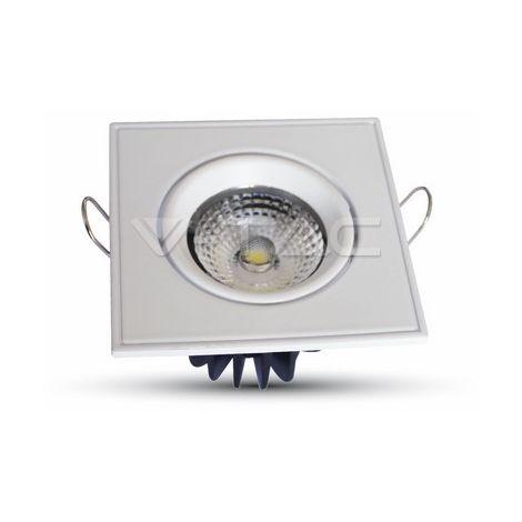 5W LED Downlight COB Carré Changement d'angle Mod VT-1105 SQ SKU 1125 6000K