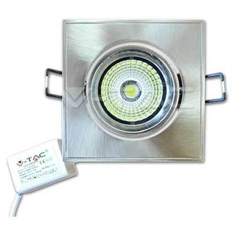 5W LED Downlight COB Carré Changement d'angle VT-1105SQ SKU 1132 Blanc 6000K