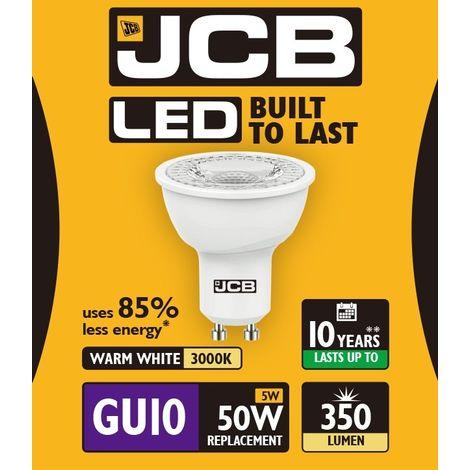 4 x Energizer GU10 LED Light Bulb 350lm Spot 5W=50W Warm White 3000k 36°