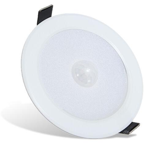5W spot encastrable encastré avec détecteur de mouvement PIR 3000K blanc chaud
