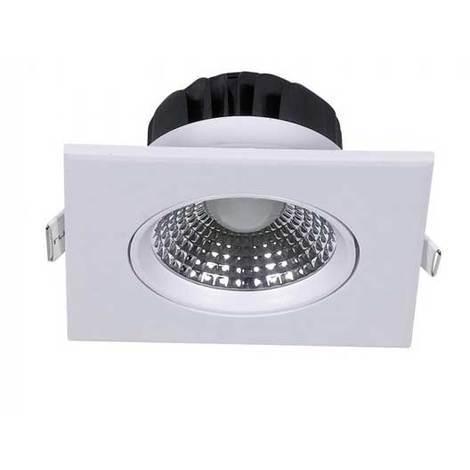 5W Spot LED Encastrable Réglable Carré 350LM 68° V-TAC Corps Blanc PKW VT-1100 SQ – SKU 7332 - Blanc chaud 3000k