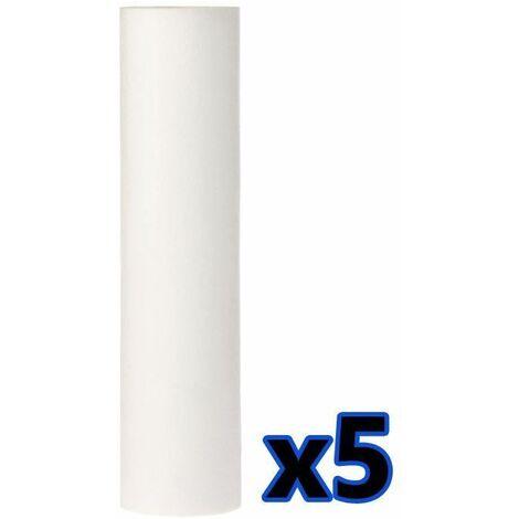 """5x anti-sédiment 10 """"cartouche de 5um filtre à eau en polypropylène élimine les solides"""