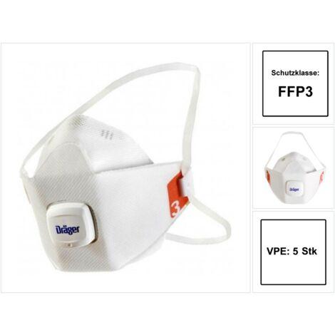 5x Dräger X-plore®1930 FFP3 Mundschutz Atemschutz mit Ventil Gr. M/L EN 149:2001 + A1:2009