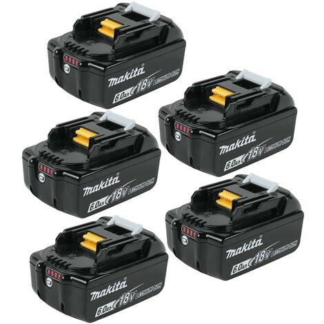 5x Genuine Makita 18V 6.0Ah Li-Ion LXT Battery BL1860 6AH New Star Battery