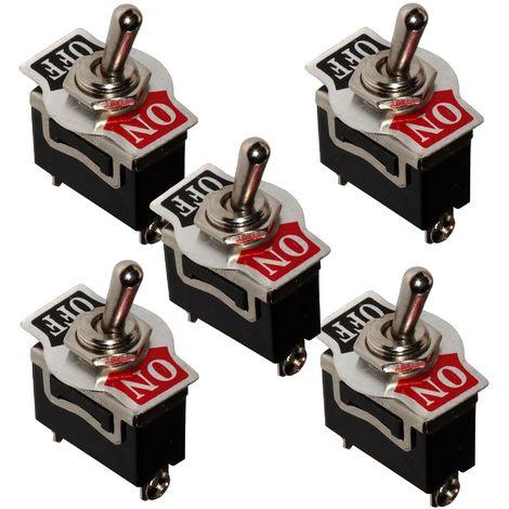 5x Interrupteur commutateur à levier SPST ON-OFF 10A/250V 2 positions