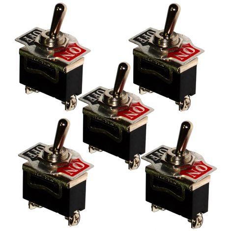 5x Interrupteur commutateur à levier SPST ON-OFF 15A/250V 2 positions