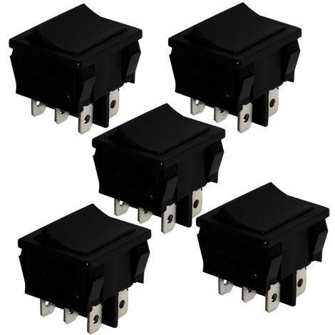 Interrupteur commutateur contacteur bouton à bascule noir SPDT ON-ON 10A//250V