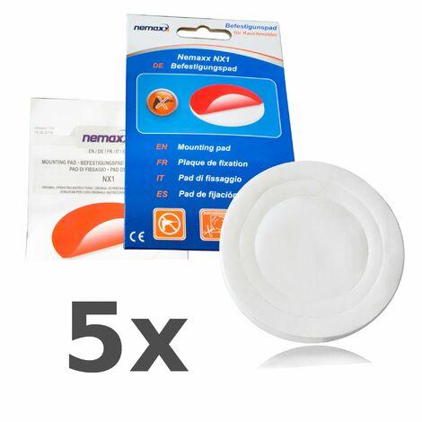 5x Nemaxx NX1 Quickfix Befestigungspad - leistungsstarkes Klebepad zur einfachen und zuverlässigen Montage von Rauchmeldern