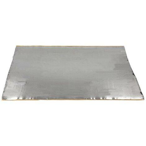 5x Plaques isolation phonique aluminium 460 x 800 x 1.8mm