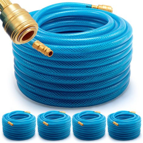 5x Pneumatic Air Hose 20m PVC 15 Bar High Pressure Tube Pipe Tubing Reinforced