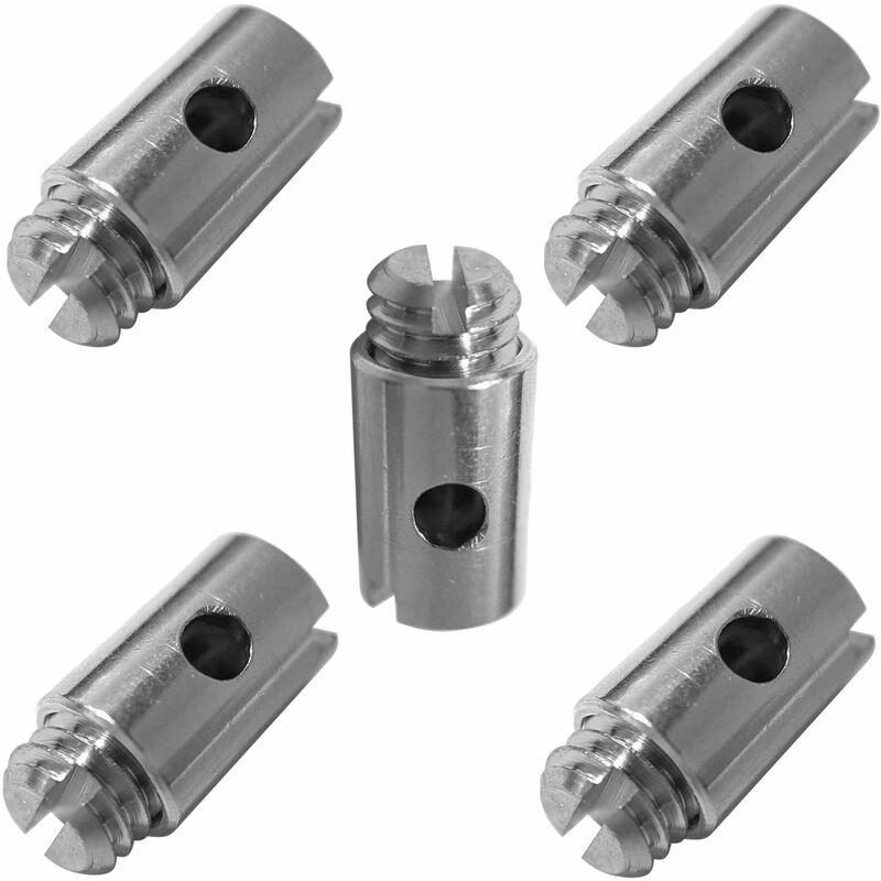 5x Serre câble cable 5 x 7.5 mm usage universel fixation serrage arrêt butée