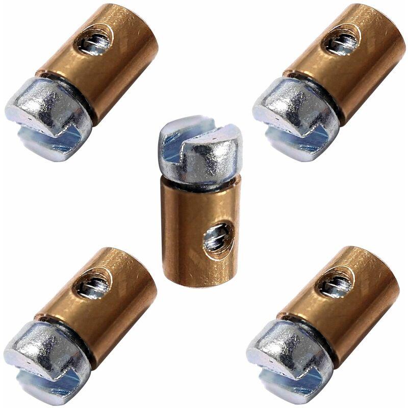 5x serre câble cable 4 x 5.6 mm usage universel fixation serrage arrêt butée