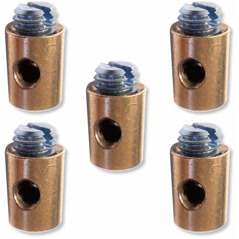 5x Serre câble cable 5.5 x 7.5 mm usage universel fixation serrage arrêt butée