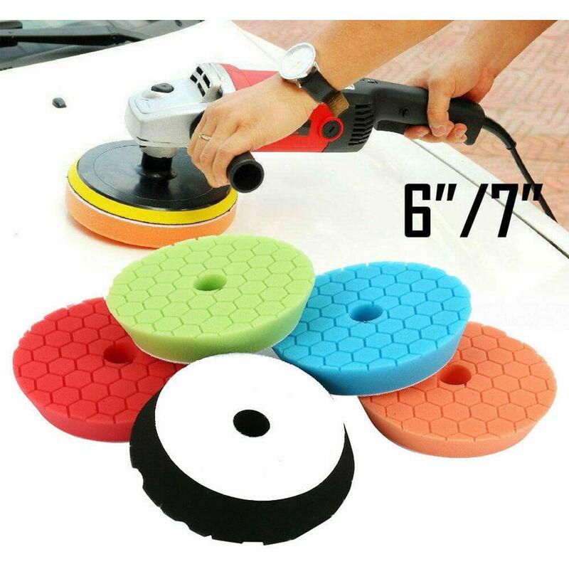 5x set di tamponi per lucidatura in velcro per dischi di lucidatura in spugna per lucidatura auto