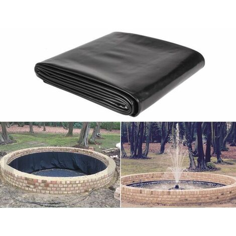 5x10ft Fish Pond Liner Garden Pools Heavy HDPE Reinforced Landscaping Pool Pond Breed Liner Membrane Waterproof Fabric