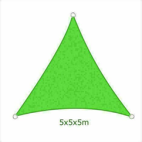 5x5x5m Sun Sail Shade Triangle Awning Canopy Garden Sun Patio Sunscreen - Light Green